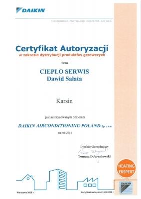 certyfikat-daikin